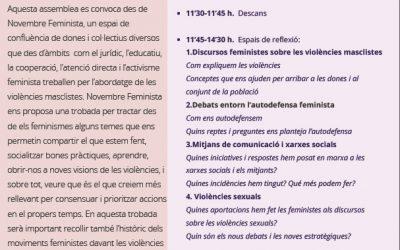 I Assemblea del moviment feminista contra les violències masclistes Octubre 2017