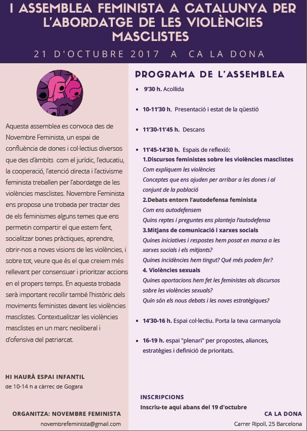 I Assemblea Feminista a Catalunya