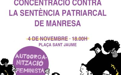 Concentració contra la sentència patriarcal de Manresa