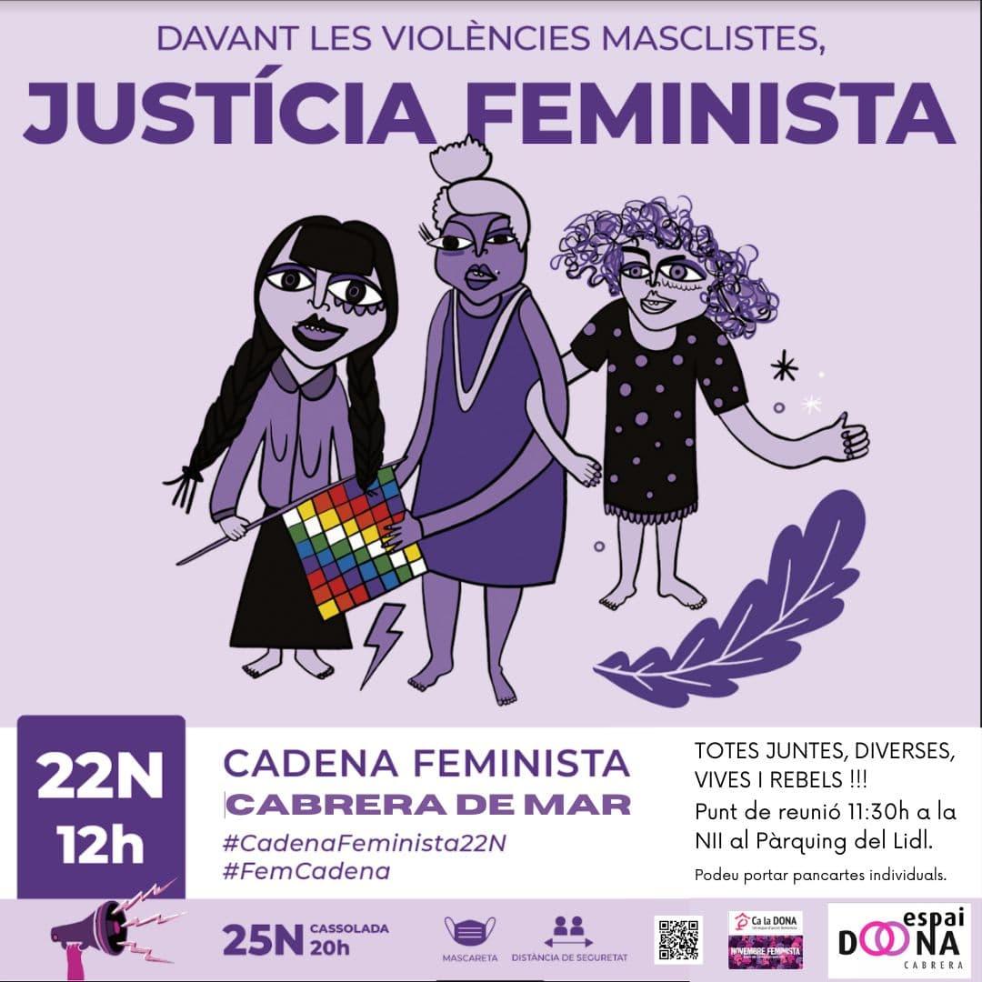 25N 2020  Cabrera de Mar Cadena Feminista