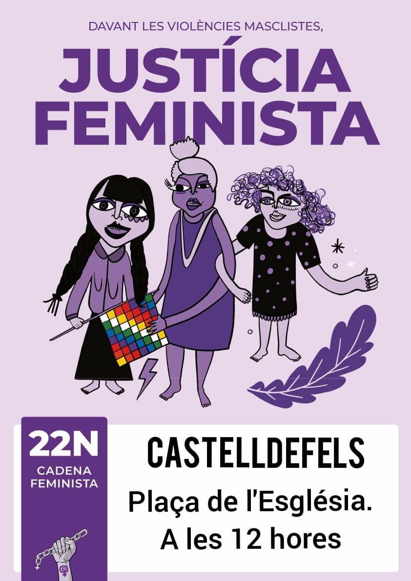 Cadena feminista Castelldefels