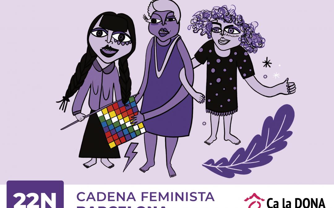 Informació per a la Cadena Feminista del 22N a Barcelona