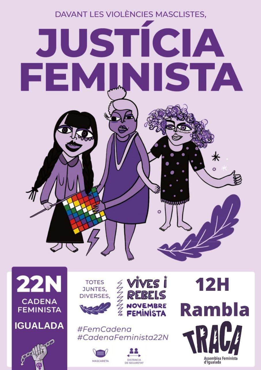 25N 2020 Igualada Cadena Feminista