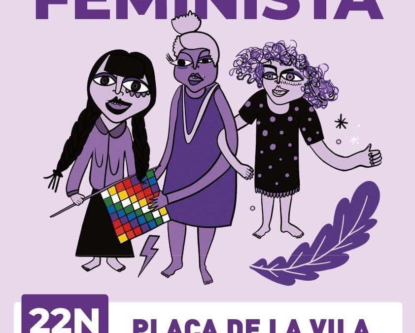 Cadena feminista a Santa Perpètua de Mogoda
