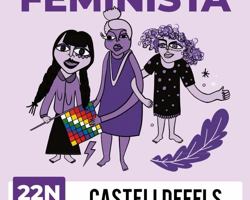 Cadena feminista a Castelldefels